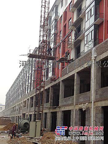 供应27米双柱建筑物料垂直升提升龙门架施工升降机