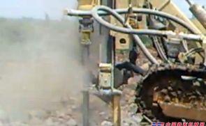 履带式潜孔钻机施工