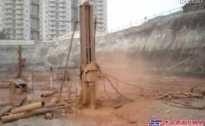 潜孔钻机施工现场