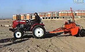 国产小拖拉机激光平地机