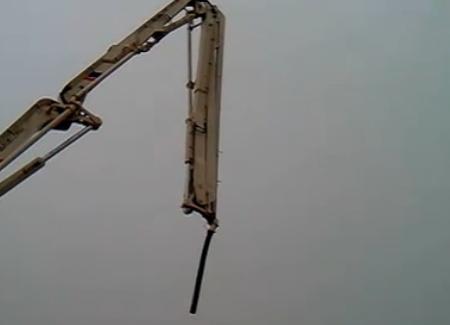 中联重科泵车 施工完毕收车