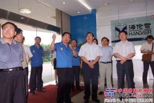 国家统计局副局长谢鸿光一行来徐州海伦哲公司视察