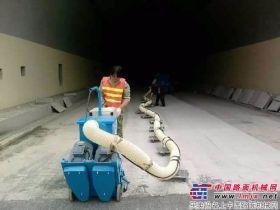 亿龙机械4台550型抛丸机助力青兰高速公路建设