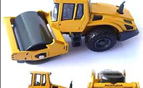 淘宝金酷娃玩具 全合金压路机车 合金汽车模型视频