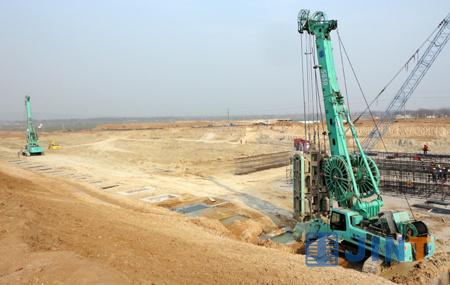 上海金泰SG液压抓斗南水北调中线工程再显风采