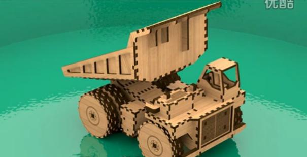 三維立體動畫展示自卸車組裝