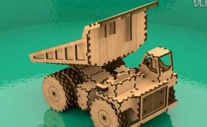 三维立体动画展示自卸车组装