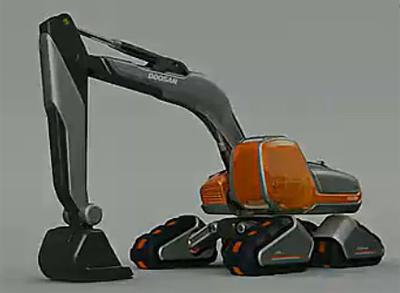未来可变形可组装的挖掘机