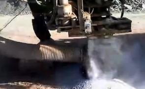 潜孔钻机工作视频