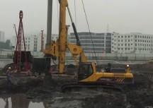 玉柴260旋挖钻机施工现场