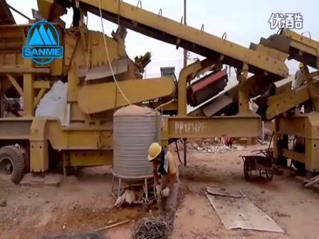上海山美昆明建筑垃圾移动破碎站生产线 施工现场