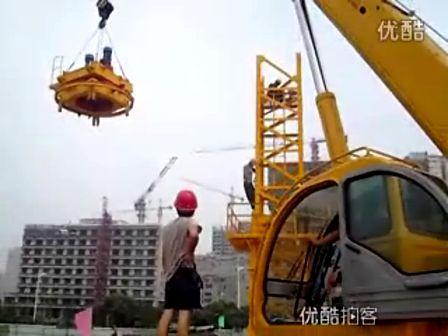 高清晰吊車作業展示視頻