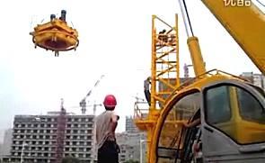 高清晰吊车作业展示视频
