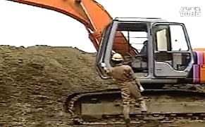 挖掘机教学培训视频之挖沟 找平