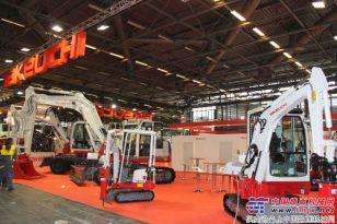 竹内盛装亮相第九届巴黎国际工程机械展