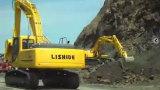 力士德挖掘机挖土震撼施工