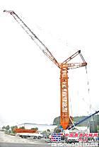 全球首台全地面底盘伸缩桁架臂起重机在中联重科下线