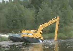 大吨位水上挖掘机