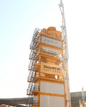 山推建友机械SLB3000型沥青搅拌站亮相上海宝马展
