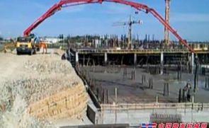 混凝土泵车工作视频【铁甲工程机械网】