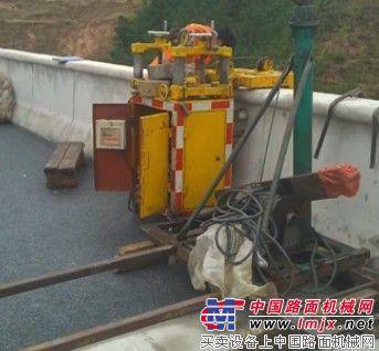 柳州博大桥梁检测车的使用现场