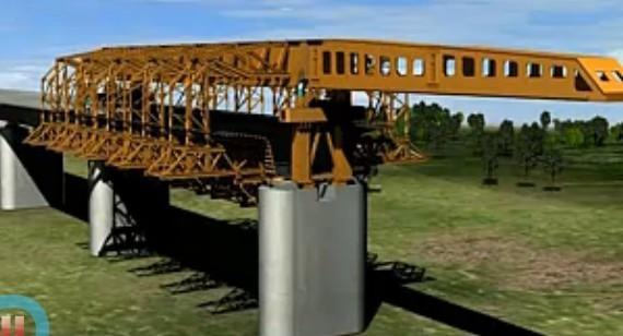 MZ900S上行式移动模架造桥机