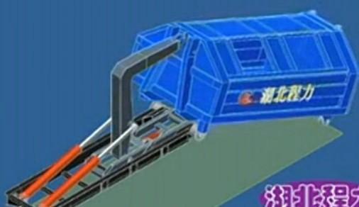 拉臂垃圾车是如何工作的、拉臂垃圾车工作原理视频