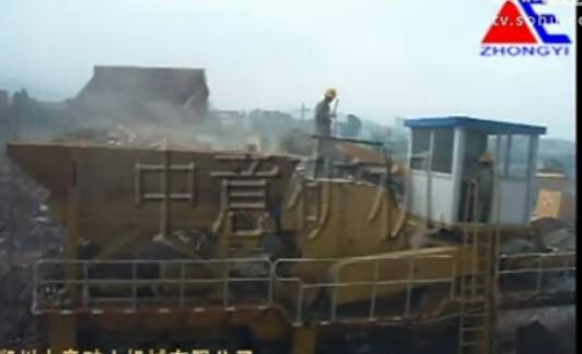 建筑垃圾处理设备处理固体废弃物过程