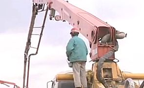 混凝土泵车操作工视频录像