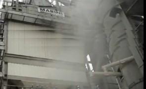 玛连尼4000型沥青混凝土生产片段