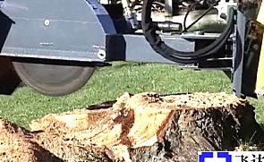GEHL滑移附带树桩切碎机辅具施工表演