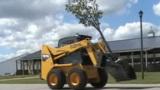 GEHL滑移附带U型板植树机附具施工表演
