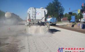 万里水泥撒布机辽宁喀左县施工现场