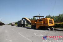 陕建CM2000铣刨机路面翻新工程再建新功