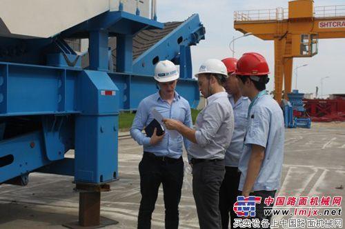 山美矿机:俄罗斯客户前来厂区验货