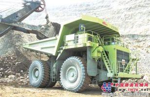 北方股份NTE150电动轮矿用车矿山显身手