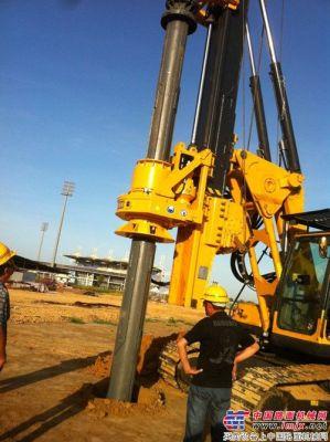 平汉重工旋挖钻机KR125A参与加勒比国家建设