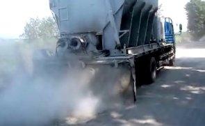 陕西万里水泥撒布机施工