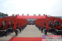 恒特重工42台轮式挖掘机出口吉尔吉斯斯坦