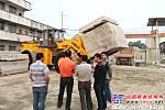 厦金机械超大吨位石材荒料叉装机巡回展震撼广西