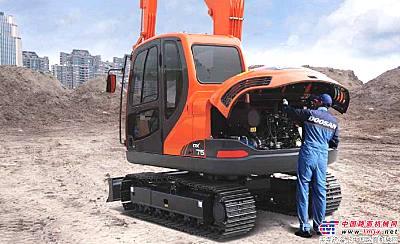 斗山DX75挖掘机经济性价比优势突出