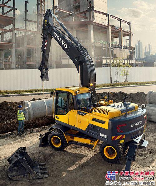 沃爾沃EW205D輪式挖掘機樹立節油增效新標桿