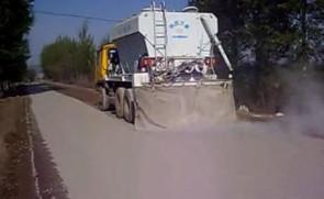 陕西万里水泥撒布机施工视频