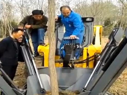 盖尔(GEHL)滑移装载机园林施工视频