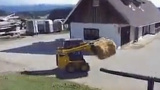 盖尔滑移装载机货叉施工视频