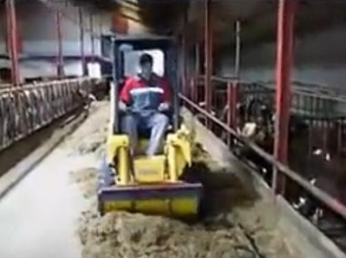 盖尔滑移装载机牛场养殖中心施工视频
