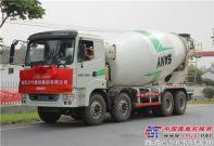 三一LNG天然气搅拌车完美交付南京兰叶建设集团