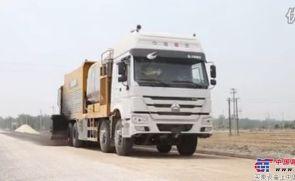 徐工XTF120A同步碎石封层车S237省道施工视频
