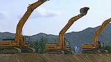 挖掘机工作表演
