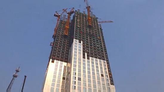 江麓塔机助力湖南长沙一57层高楼19天建成,刚开始我也不信!